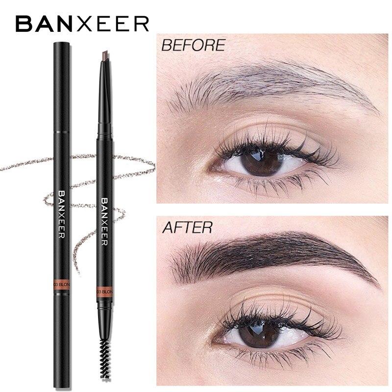 BANXEER Eyebrow Pencil Waterproof  For Eyebrows Cosmetics Eyebrow Marker Enhancer Brown Tattoo Pen Eyebrow Pencil With Brush