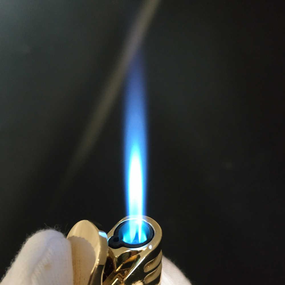 4 צבע כחול להבת גז Refillable Jet מצית Windproof סיגר מצית Creative מתנת אישיות מתכת מתנה