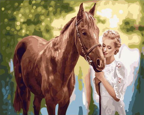 Painting By Numbers GX 32746 Favorite Horse 40*50