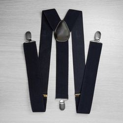 Pants suspenders wide (3.5 cm, 3 clips, dark blue) 50827