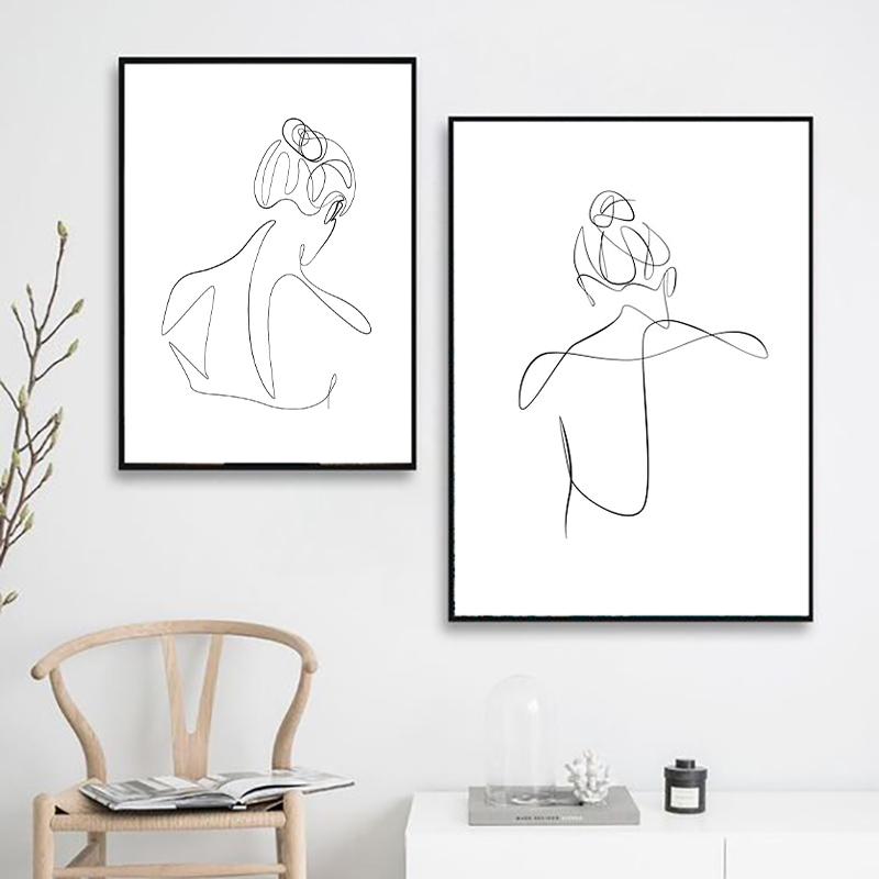 Female Line Drawing Print
