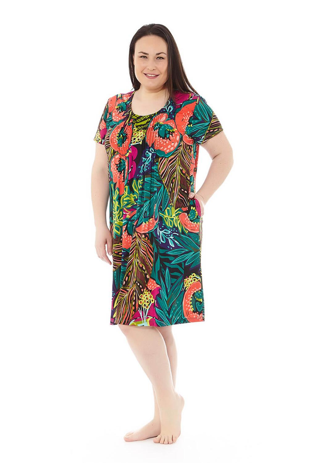 Mabel Intimate-TROPICAL Dress-plus Size From 50 To 70-summer