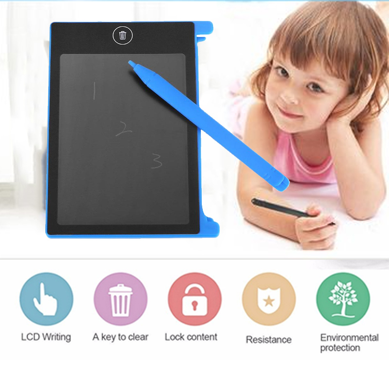 4.4 Inch Blue Drawing Toys Portable Lcd Writing E-writer Board For Children Smart Early Educational Kids Drawing Tablet