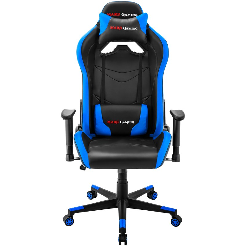 Chair Gamer Mars Gaming Mgc3bbl Color Black Detallen In Blue Arms Adjustable Height Up Seat Recliner Recubrimento