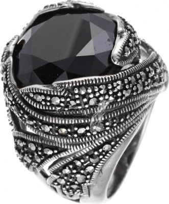Jay VI Ring With Marcasite And Cubic Zirconia