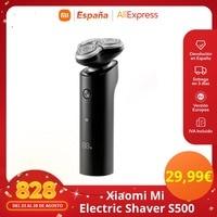 Xiaomi Mi Electric Shaver S500, Maquinilla de Afeitar para Hombre, Recargable, Lavable, Cabezal 3D, 3 Cuchillas Versión Global Original