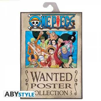 Pack 9 Posters One Piece Wanted de la Tripulación de Luffy Merchandising de One Piece Productos que enviamos en 3 días