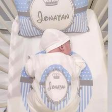 Personalized Boy Baby Hospital Set  Custom Name Newborn Baby Outfit Clothes Coming Home Going Blanket Pillow Sleep suit Sets