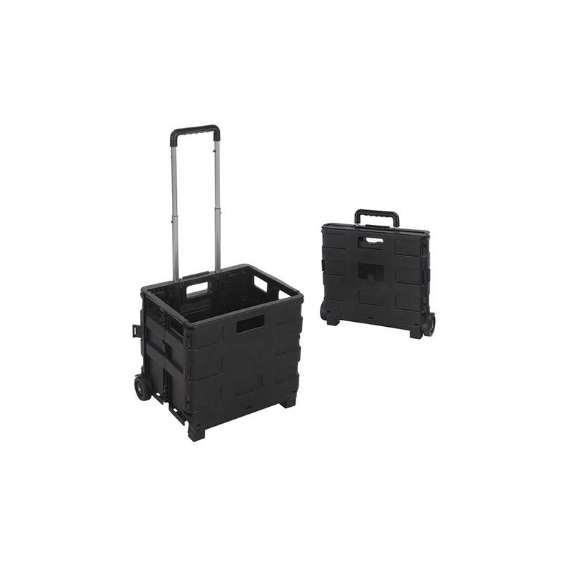 FOLDING TROLLEY ALUMINUM 38X36X30 CM.