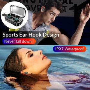 Image 5 - TWS 5.0 Bluetooth écouteur 4000mAh LED affichage sans fil Bluetooth écouteurs IPX7 étanche écouteurs stéréo casques avec micro