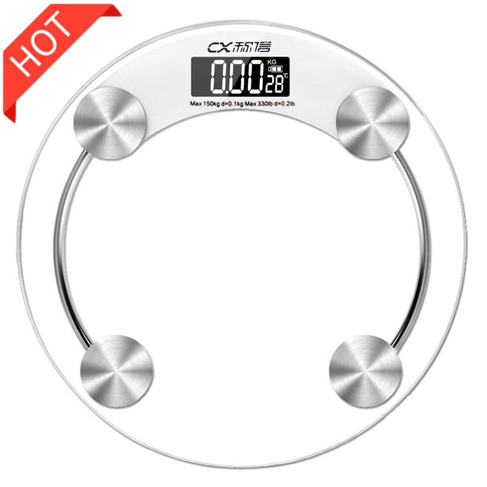 Dropshipping Canada Weight Scale Tempered Glass Bathroom Floor Body  Smart Electronic Scales LCD Display Digital  Weighing