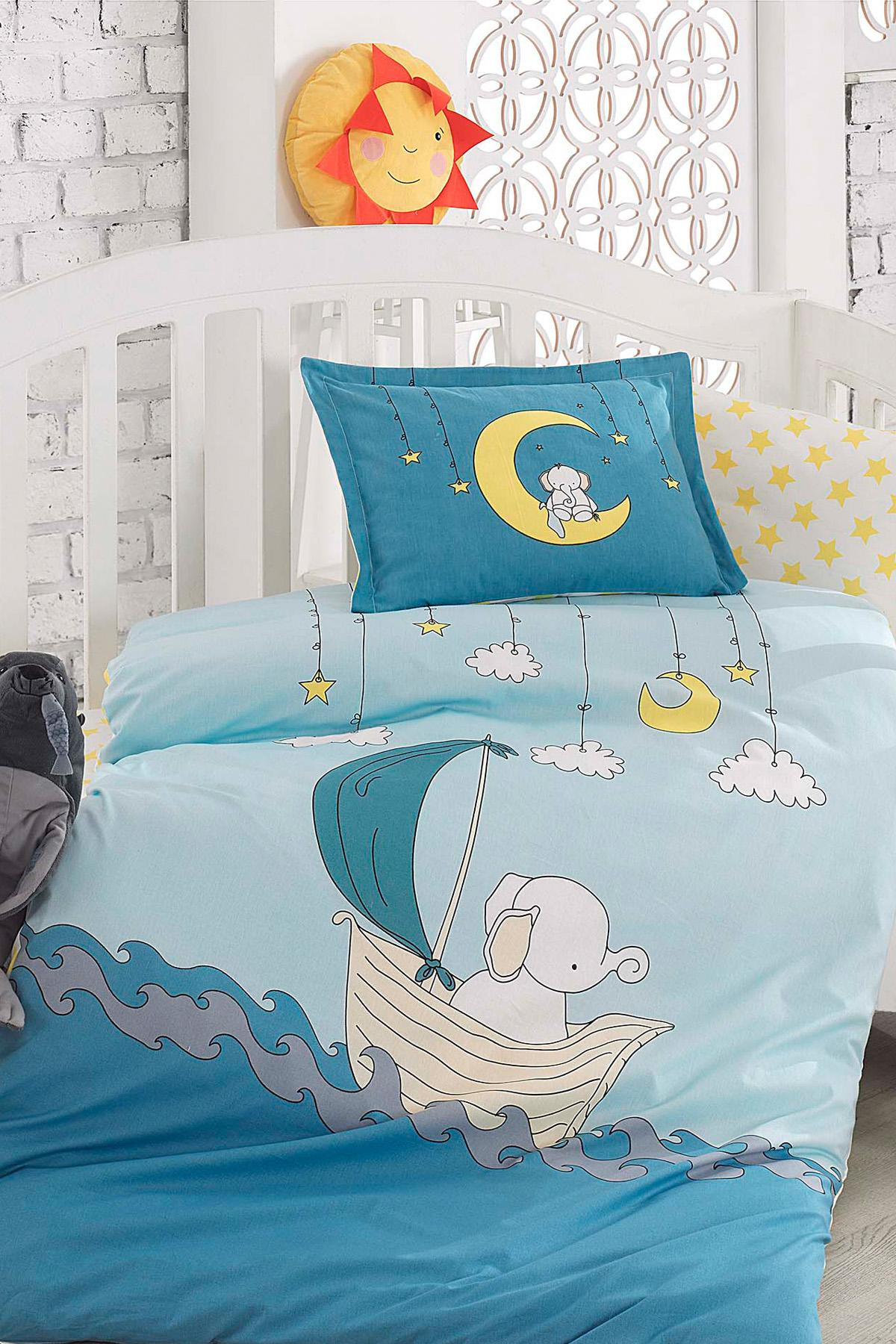 Elephant 7Parça 100 Cotton Baby Sleep Set