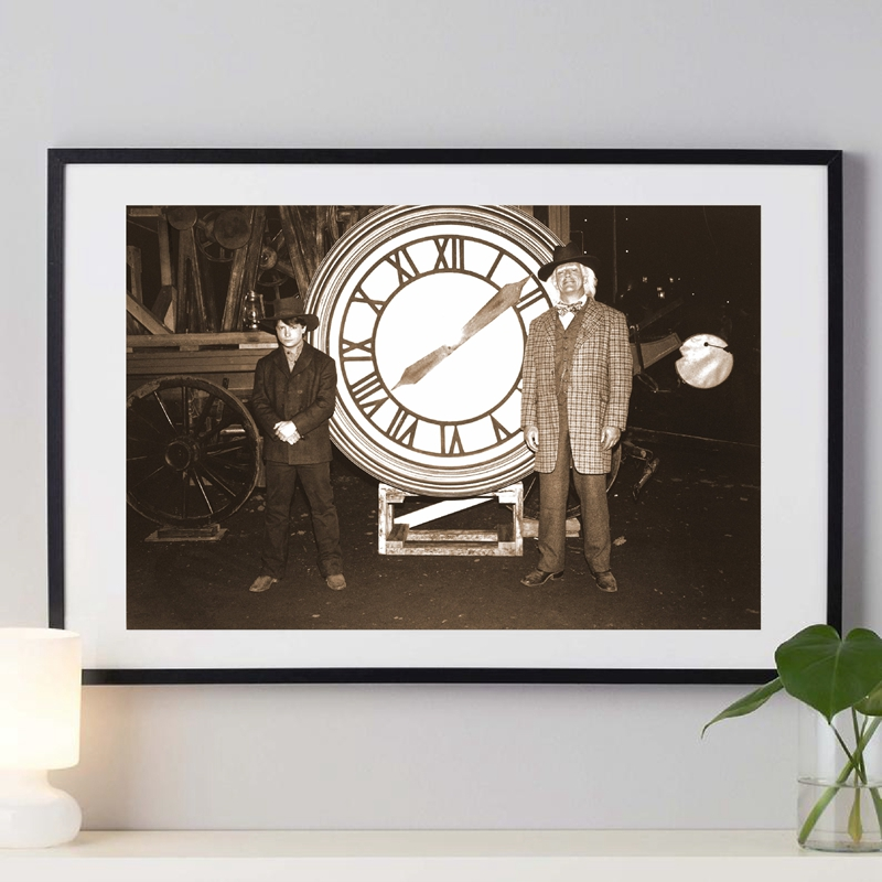 Back to the Future Prop 1885 Clock Photo Poster Wall Art Decor