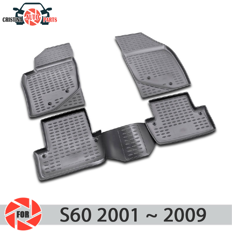 Floor mats for <font><b>Volvo</b></font> <font><b>S60</b></font> 2001~<font><b>2009</b></font> rugs non slip polyurethane dirt protection interior car styling accessories image