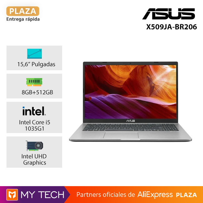 Portátil ASUS X409JA BV144T /X509JA BR112T Asus X509JA BR206: i3 1005G1/8GB/256GB, i5 1035G1/8GB/512GB/FreeDos|Ordenadores portátiles| - AliExpress