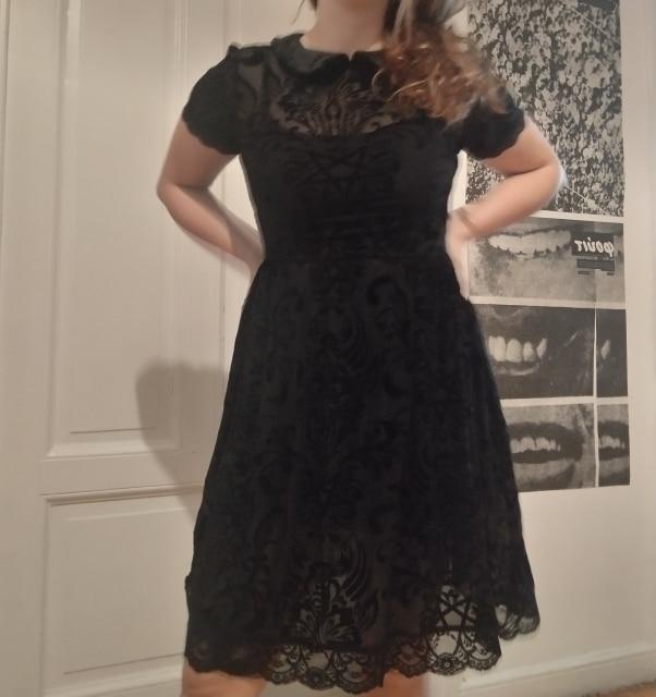 Vintage Lace Gothic Dress photo review