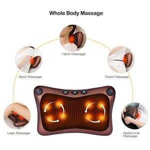 Image 5 - الأشعة تحت الحمراء ساخنة رئيس الرقبة الكتف الجسم مدلك وسادة تدليك كهربائي وسادة هزاز العلاج شياتسو الاسترخاء الرعاية الصحية