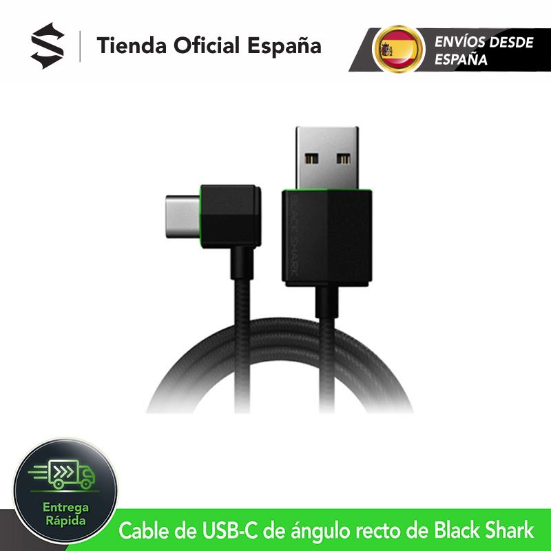 Original Xiaomi Black Shark Right angle USB C Cable Brand New Cable for Gaming