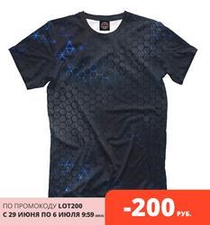 Мужская футболка Стальные соты