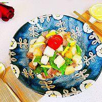 #百变鲜锋料理#蚝油牛粒沙拉的做法图解11