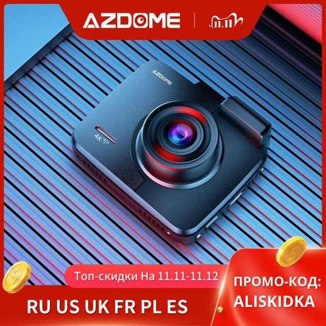 "AZDOME GS63H 4K 2160P דאש מצלמת מובנה WiFi GPS רכב לוח מחוונים מקליט 2.4 ""LCD, WDR, ראיית לילה, תמיכה אחורי מצלמה"
