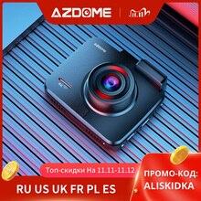 """Azdome gs63h 4k 2160p traço cam construído em wifi gps carro dashboard recorder 2.4 """"lcd, wdr, visão noturna, apoio câmera traseira"""