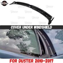 Guard cover jabot for Renault / Dacia Duster 2010 2017 under windshield ABS plastic accessories protective car styling tuning