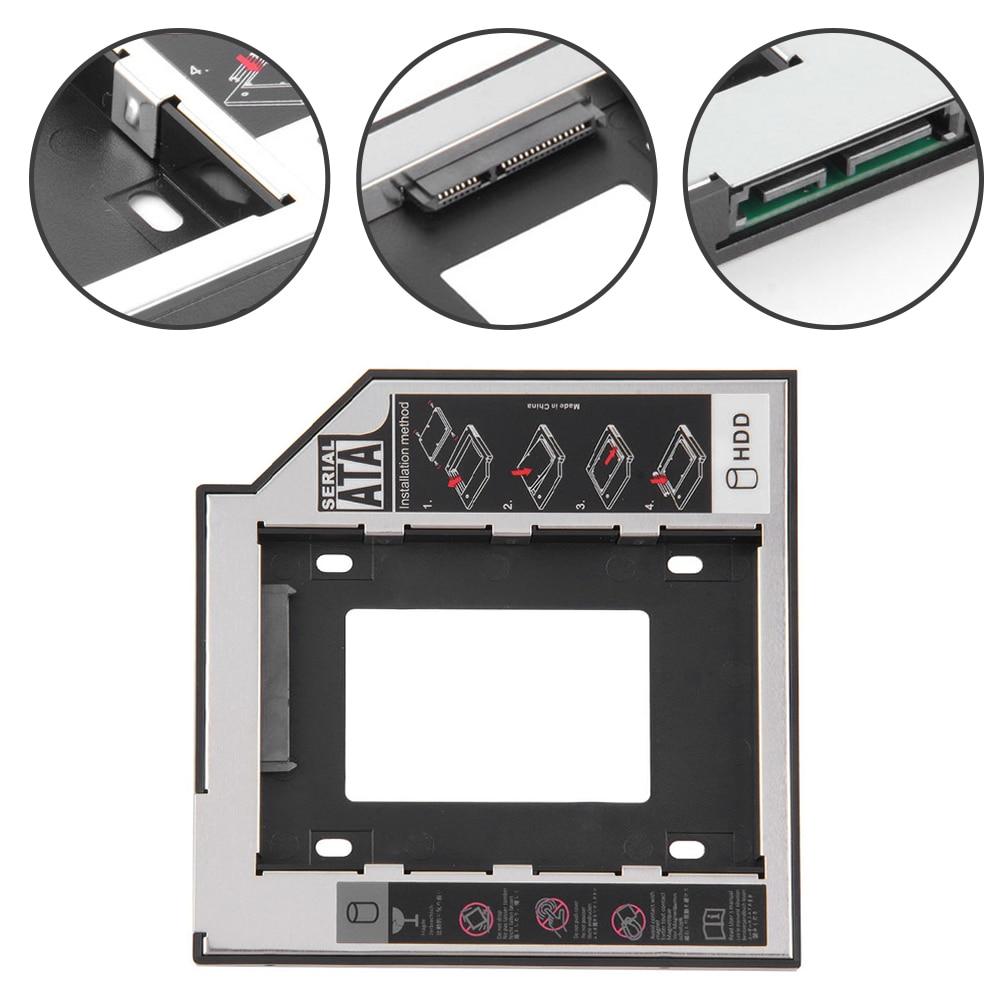 12.7mm 2nd HDD Caddy Aluminum Optibay SATA 3.0 Hard Disk Drive Box Enclosure DVD Adapter 2.5 SSD 2TB For Laptop CD-ROM