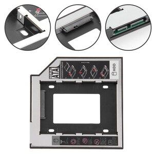 12.7mm 2nd HDD Caddy Aluminum Optibay SATA 3.0 Hard Disk Drive Box Enclosure DVD Adapter 2.5 SSD 2TB for Laptop CD-ROM(China)