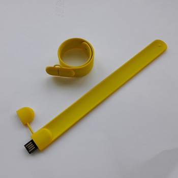 USB flash drive bracelet blind, 16 GB yellow