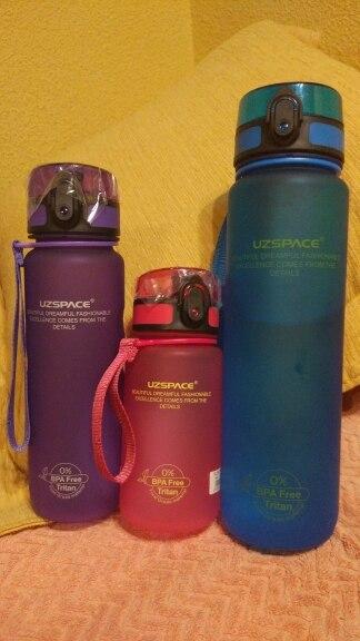 UZSPACE Sport Water Bottle Direct Drink or Straw fruit Infuser Bottle 500ml Portable Leakproof Gourde Plastic Drinkware BPA Free|Water Bottles|   - AliExpress