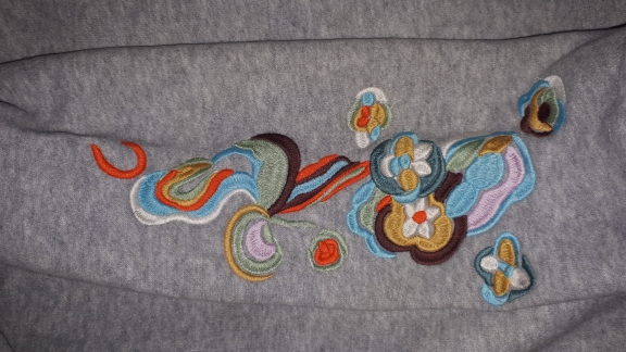 Sweatshirt Women Long Hoodie Dress Embroidery Floral Moleton Feminino Pullover Womens Winter photo review