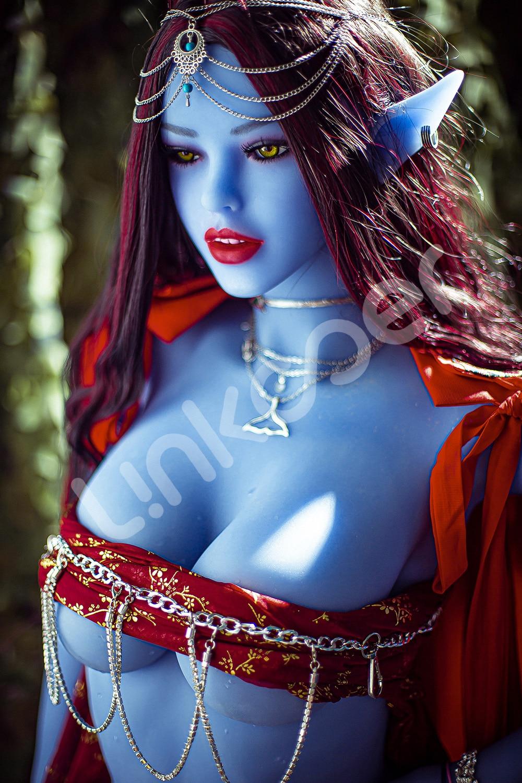 U3af9a451966c4cd5a97630ab873a4727S Linkooer-Muñeca sexual de silicona para hombres adultos, juguete de belleza de elfo azul de 158cm, con ano realista, Vaginal y Oral