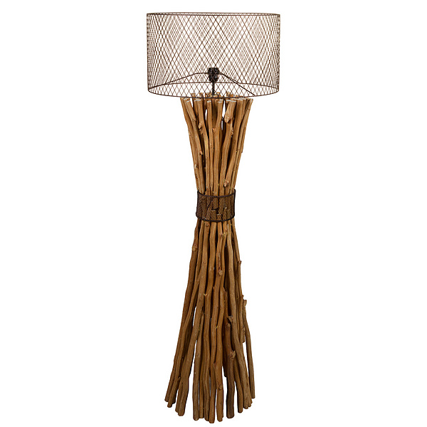 Floor Lamp Wood (48 X 48 X 148 Cm)