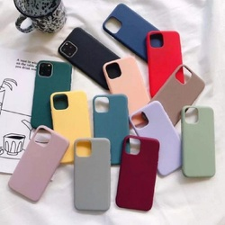 Case for iPhone apple 7 8, 7 + 8 +, X/Xs XR 11, 11 pro 11 pro Max Xs XR + logo. Silicone, soft velvet