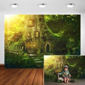 Image 1 - ファンタジージャングルの森の写真撮影の背景エルフパーティーの装飾ベビー肖像ための写真の背景写真フォトスタジオ