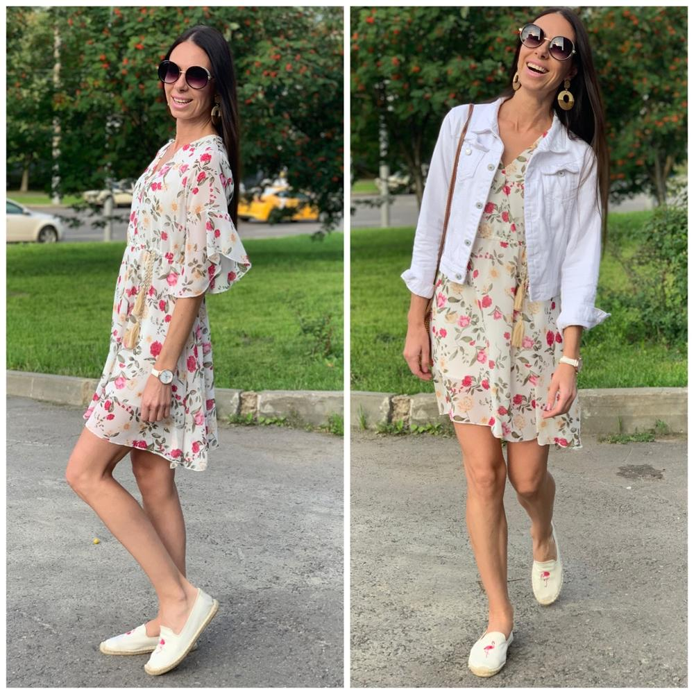 Summer Dress Women Floral Print Mini Dress Ladies Sexy Wrap Dress Short Sleeve Clubwear Party Dresses Vestidos With Lining photo review