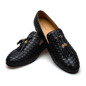Image 1 - MEIJIANA Echtem Leder Männer Müßiggänger Schuhe Mode BV Atmungs Bequemen Männer Müßiggänger Luxus männer Wohnungen Männer Casual Schuhe
