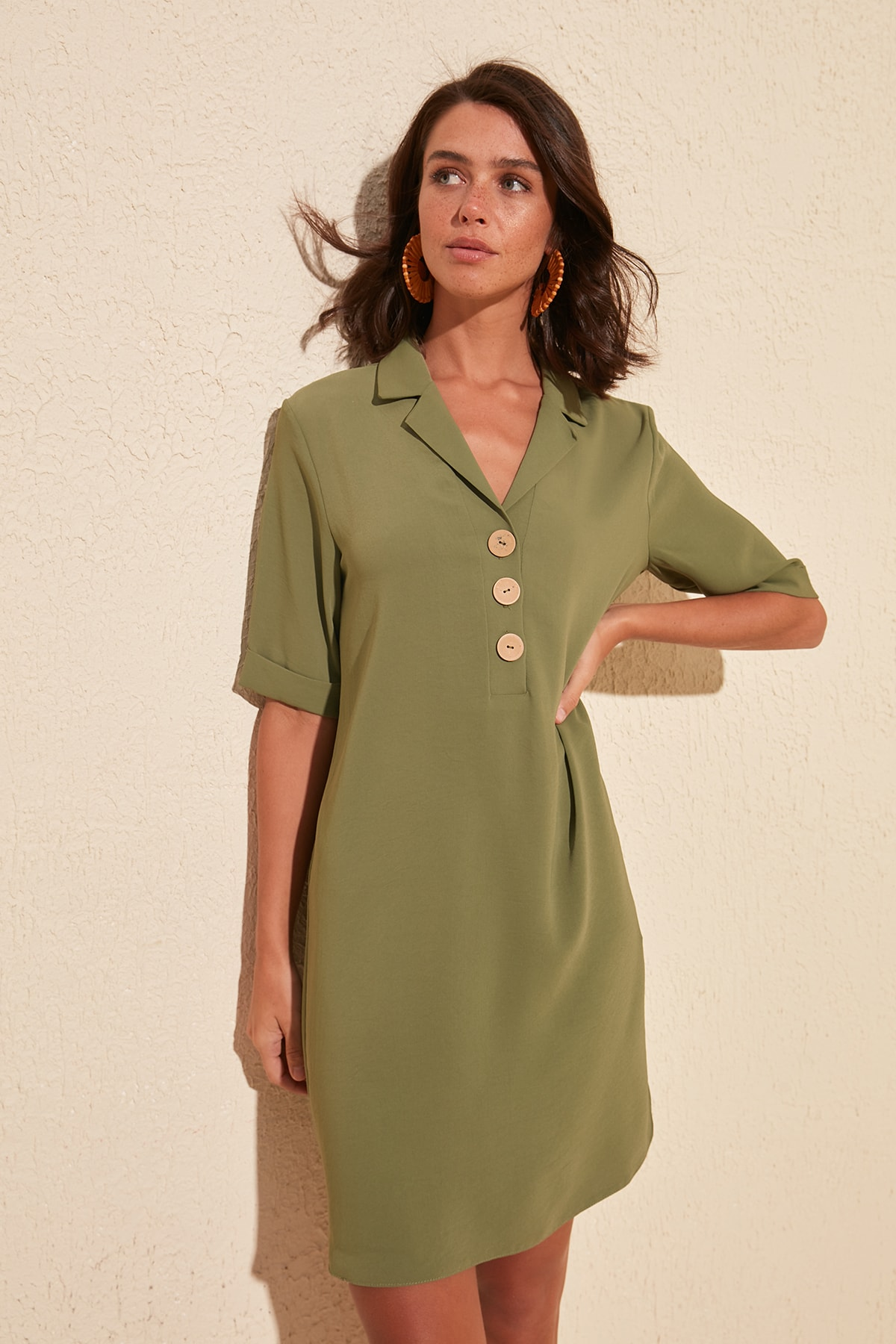 Trendyol Button Detail Dress TWOSS20EL1853