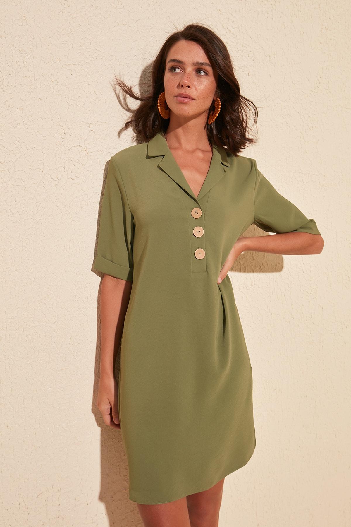 Trendyol Button Detail Dress TWOSS20EL1853