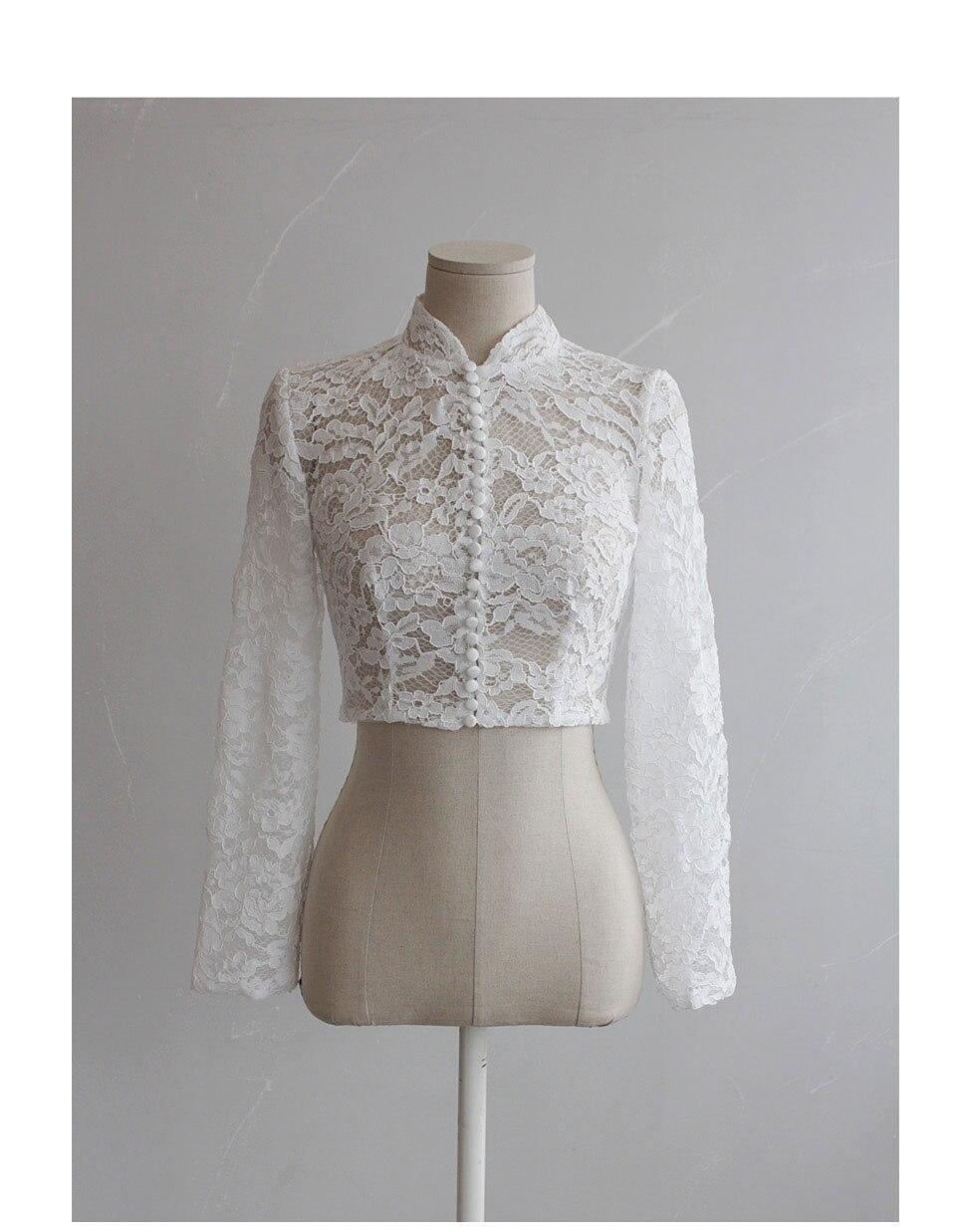 Merryu Bride Wedding Shawl  Lace  Long Sleeve Wedding Dress Wedding Jacket Wedding Accessories