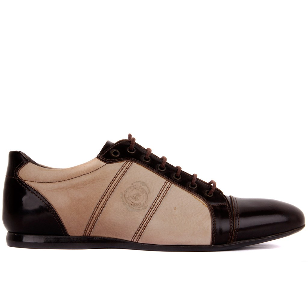 Sail Lakers-Brown Patent Leather Men 'S Shoes