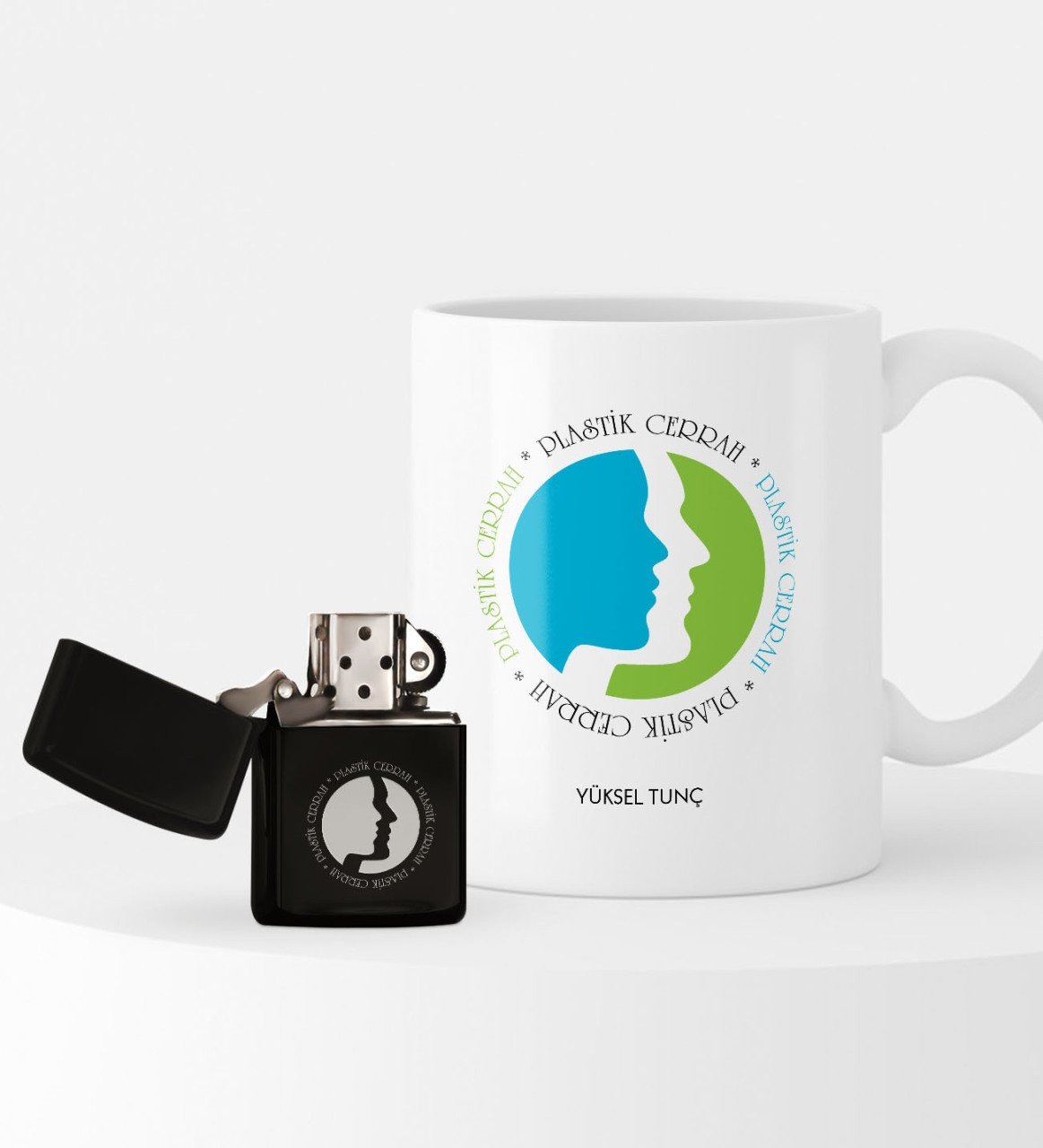 Personalized Plastic Surgeon Lighter and Mug Set image