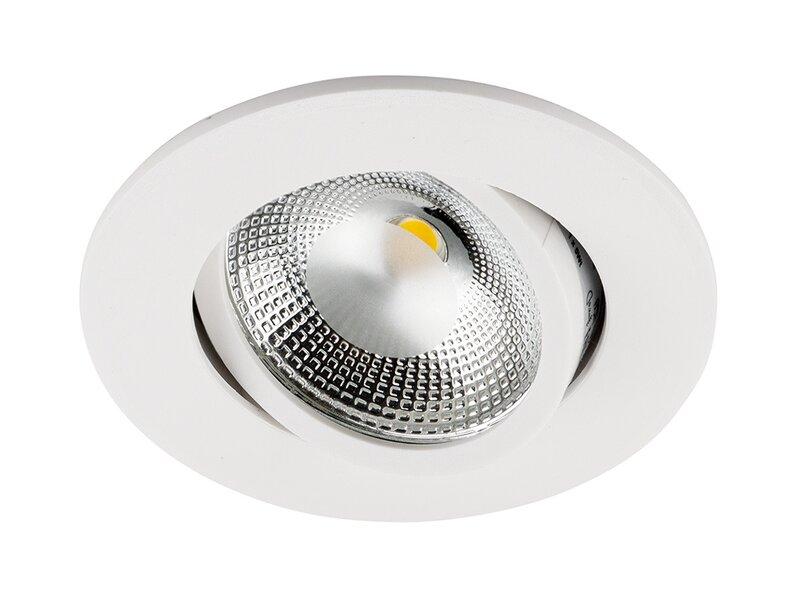Встраиваемый светодиодный светильник 1хLEDх5 Вт белый 3000К