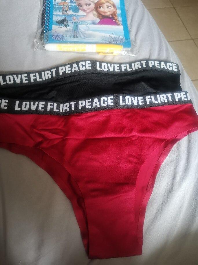 ALLMIX 3Pcs/lot Sexy Women's Sport Panties Set Underwear Seamless Thongs Low Waist Letter G-String Comfort Lady Lingerie Tanga photo review