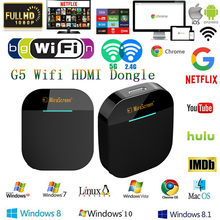 G5 Netflix Anycast 1080P HDMI Miracast Any Cast Wireless DLNA AirPlay Mirror HDMI TV Stick Wifi