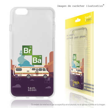 FunnyTech®Silicone stand case for BQ Aquaris U/U Lite Series Breaking Bad Caravan transparent