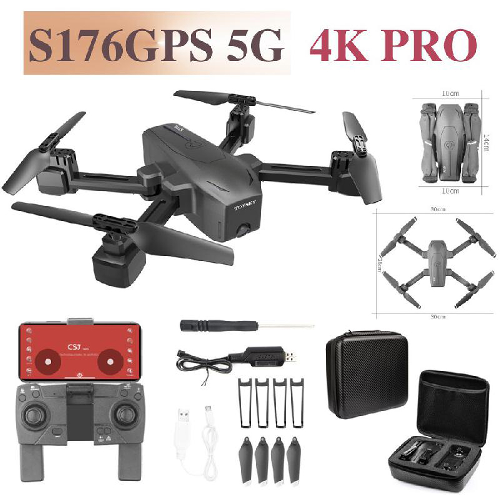 S176 Drone 4K GPS HD Dual camera 5G FPV Image Optical Flow FOLLOW ME Helicopter Altitude Hold RC Quadcopter Mini Dron VS SG907