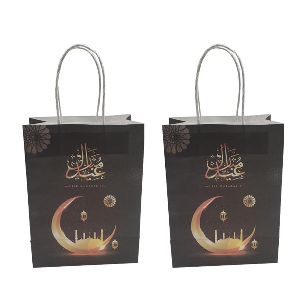 Candy Bags Eid Mubarak Gift Box Ramadan Party Packs Party Paper Treat Bags Eid Party Ramadan Muslim Supplies 12pcs