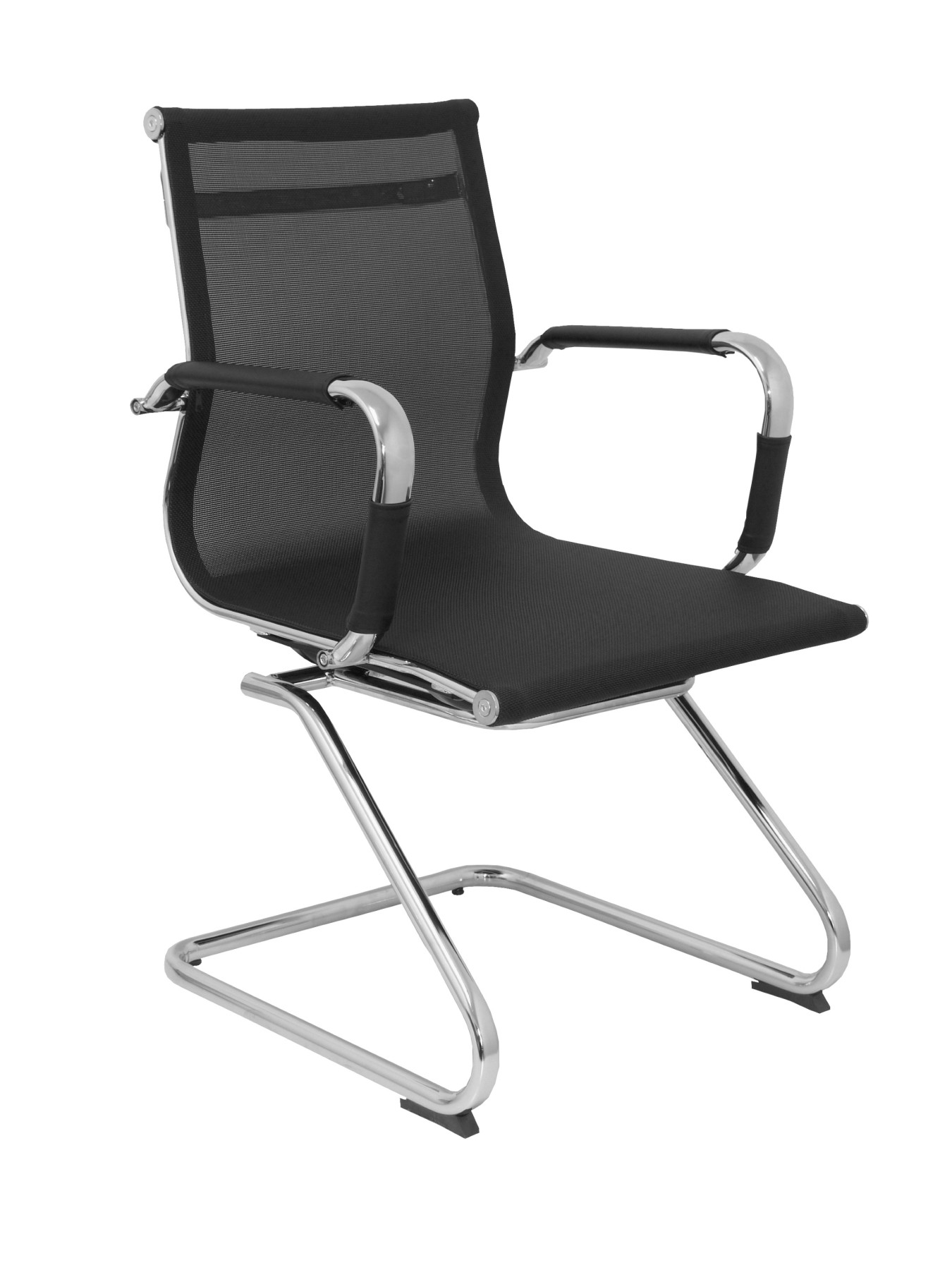 Chair's Office's Confidant And Desk Ergonomic With Chrome Respaldo Skate And Seat Mesh Black Color TAPHOLE AND CURLED